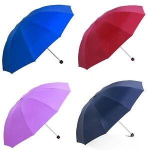 EXTRA LARGE Travel Water Proof  Compact Folding Rain Anti UV Windproof Umbrella