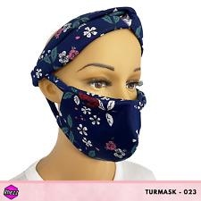 Rhezz TurMask (Turban & FaceMask), Floral Design, Free Shipping