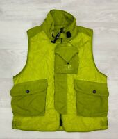 CP COMPANY €430 Men's Quilted Special Dyed Vest Gilet  Col. Sulphur Spring 220