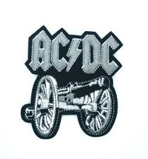 """3.5""""x3.7"""" Ac/Dc Cannon Logo Rock Music Iron Sew On Embroidered Patch +255"""