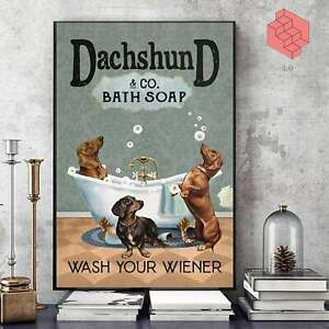 Dachshund & Co. Bath Soap Poster - Print Poster, Animal Poster, Animation Poster
