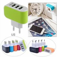 3.1A US Plug LED Triple USB 3 Port Wall Home Travel AC Charger Adapter Universal