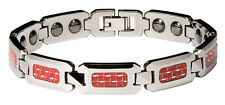 NEW Men's Shiny Tungsten Carbide Bracelet w/ RED Carbon Fiber  Inlay   TOP STYLE