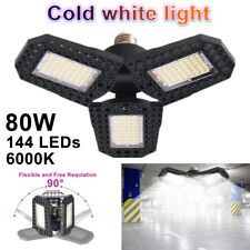 80W Deformable Led Garage Light Super Bright Shop Ceiling Lights Bulb E27 In Usa