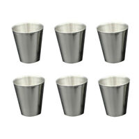 6PCS US SHIP Stainless Steel Shot Wine Glass Glasses 2-1/2 fl Ounce Set of 6 New