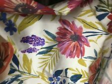 Sanderson Thick Cotton / Linen  ..bright  floral garden