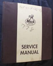 Mack Trucks ML526S Mid-Liner Chassis Vol II Shop Repair Service Manual