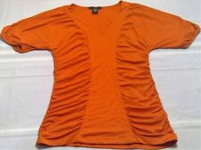 Apostrophe women's medium stretch orange tee t shirt work career