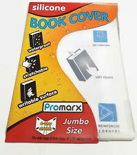 Kittrich Promarx Jumbo Silicone Stretch See Through School Book Cover - Clear