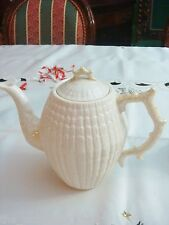 """Coffee Pot & Lid in Limpet Yellow  Belleek Pottery (Ireland) 8"""" tall [a*12]"""