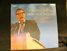 GEORGE BEVERLY SHEA - HOW GREAT THOU ART  VINYL LP  BUY 1 LP GET 1 LP FREE