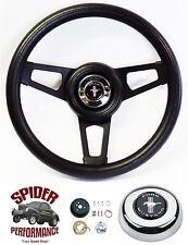 """1984-1991 Mustang steering wheel PONY 13 3/4"""" BLACK SPOKE steering wheel"""