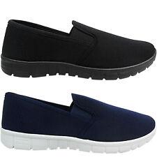 Womens Ladies Nurse Lightweight Work School Gusset Pumps Plimsolls Shoes Size