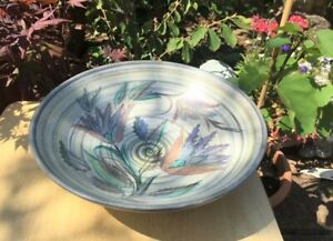 LARGE FRUIT OR TABLE BOWL CIRCULAR 30cm DIAMETER - GLYN COLLEDGE SIGNED 1950-60s