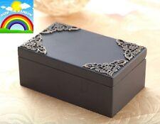 Black Vintage Rectangle Music Box : Somewhere Over the Rainbow