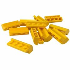 10 NEW LEGO Brick, Modified 2 x 4 x 1 1-3 with Curved Top Yellow