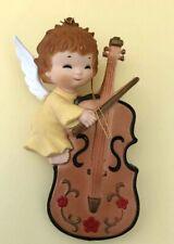 Vintage Angel Playing Violin/Cello Ornament Made in Hong Kong