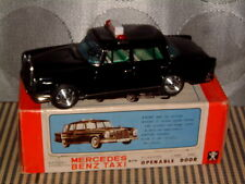 BANDAI TIN, MERCEDES BENZ TAXI W/AUTO. OPENING DOOR! 100% ORIGINAL/WORKING W/BOX