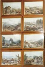 The Beaufort Hunt A Series of Eight Plates of Fox Hunting Original Hand Coloured
