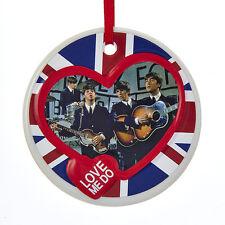 BE2162 Kurt Adler Beatles Love Me Do Porcelain Ornament British Rock Band Fab 4
