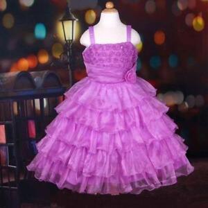 Girl Child Kid Party Formal Princess Flower Birthday Wedding Dress PURPLE SIZE 9