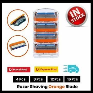 16X 5 Blades for Gillette Fusion Razor Shaving Shaver Trimmer Refills Cartridges
