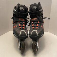 Ozone 500 Roller Blades Men's Size 8 Black Gray Orange ABEC 7 Inline Skates
