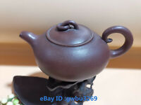 S84 Chinese old Yixing zisha Clay teapot 320ml Hand-carved Purple sand Teapot