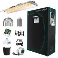 Mars Hydro TS 2000W LED Grow Lights+4'x2' Grow Tent Indoor Hydroponic Veg Flower