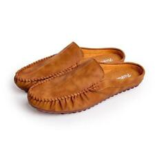 Mens Loafers Shoes Driving Moccasins Breathable Casual Slipper Leather Flats @