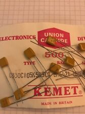 10x Condensatore  KEMET C330C105K5R5CA - 1 uF 50V - Capacitor - NOS