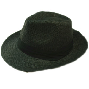 Men Women Summer Sun Wide Flat Big Brim Fedora Panama Paper Straw Hat Cap