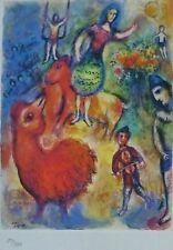 MARC CHAGALL CIRCUS 1985 SIGNED HAND NUMBERED 310/333 ETCHING