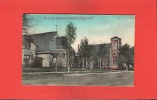 Huron,Beadle County,SD South Dakota M.E. and Episcopal Churches, dirt street