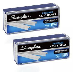 "Swingline Staples, S.F. 4, Premium, 1/4"" Length, 210/Strip, 5000/Box, 2 Pack ..."