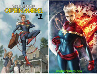 LIFE OF CAPTAIN MARVEL 1 REGULAR AND VARIANT SET 2 COVERS MARVEL COMICS NM HOT!
