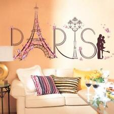 Home Decor Rooms Removable Paris Eiffel Tower Art Decals Wall Stickers DIY Gifts