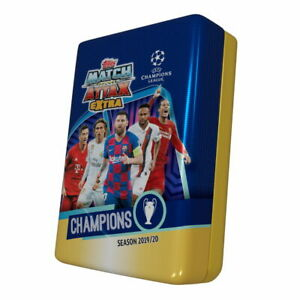 2019-20 TOPPS MATCH ATTAX EXTRA CHAMPIONS LEAGUE MEGA TIN LOOK FOR HAALAND RC!