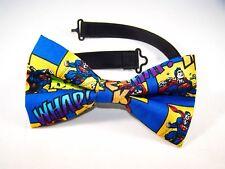 NEW FABRIC BOW TIE W/ Adjustable Strap * SUPERMAN * Handmade USA*FREE SHIPPING B