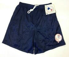 New Majestic New York Yankees Blue Nylon Mesh Shorts NWT size M Medium