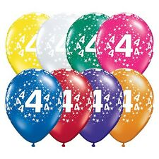 Party Supplies 4th Birthday 4 Around Jewel Stars Latex Balloons Pack of 10