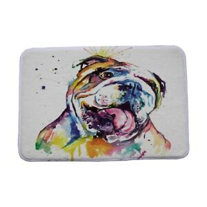 Cute Pug Dog French Bulldog Pattern Toilet Door Mat