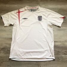 UMBRO White Home England Soccer Football Men Jersey Size XL Official 2005-2007