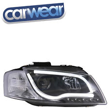 AUDI A3 8P 03-07 BLACK LED DRL BAR PROJECTOR HEADLIGHTS