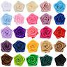 20Pcs Satin Ribbon Rose Flower Appliques Wedding Xmas Party Decor Craft Sew DIY