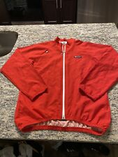 Santini Windstopper Cycling Red Long Sleeve Windbreaker Size L Cycling