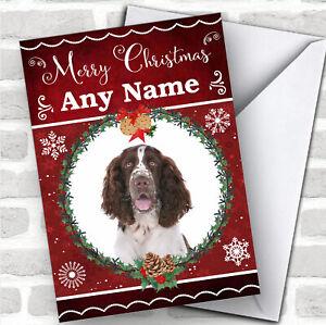 English Springer Spaniel Dog Traditional Animal Customised Christmas Card