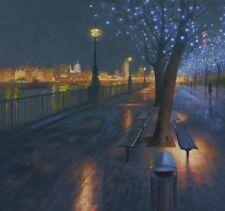 """NUOVO ORIGINALE MARCHIO Harrison """"Winter Passeggia, Kings REACH"""" LONDON CITY pittura ad olio"""