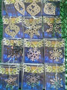 Set of 40 Assorted Metal Christmas Tree Decorations Wholesale Lot Xmas Baubles