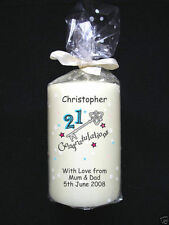 21st Candle Card Birthday Personalised Candle by Cellini Unique Any Special #1
